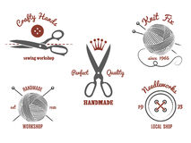 Logos faits main Image libre de droits
