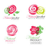 Logos floreale Immagine Stock Libera da Diritti