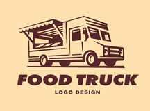 Logos of food truck Stock Photos