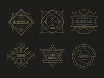 Logos géométriques abstraits de vecteur photos libres de droits