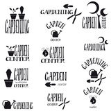 Logos for gardening Royalty Free Stock Images