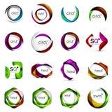 Logos geometrico di sovrapposizione moderno di forme illustrazione vettoriale