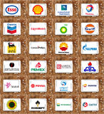 Logos of global oil and gas companies Stock Images