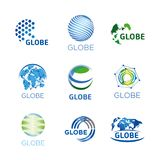 Logos, globe, global Royalty Free Stock Photo
