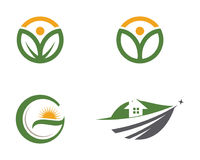 Logos of green leaf ecology nature Royalty Free Stock Photography