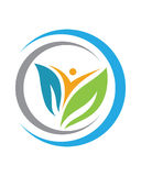 Logos of green leaf ecology nature element vector icon Royalty Free Stock Photo