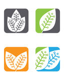 Logos of green leaf ecology nature element vector icon Stock Photo