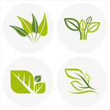 Logos of green leaf, environmental idea Royalty Free Stock Photography