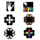Logos with hands Royalty Free Stock Images
