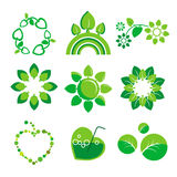 Logos health and the environment Stock Photo