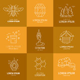 Logos with honey Stock Photography