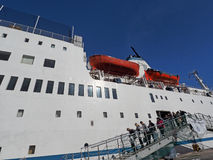 Logos Hope docking in Cape Town Stock Images