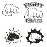 Logos with the image of a fist Stock Image