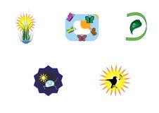 Logos, insegne Immagini Stock Libere da Diritti