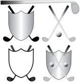 Logos jouants au golf Images libres de droits