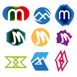 Logos letter m Stock Photo