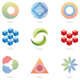 Logos (lines and cubes) Royalty Free Stock Photography