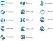 Logos, Logotypes. Samples of logotypes, patterns, brand Royalty Free Stock Photos