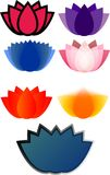 Logos lotus. Suitable for yoga and simple logos Stock Image