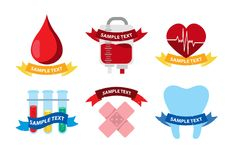 Logos médicaux Image stock