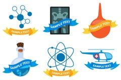 Logos médicaux Images libres de droits
