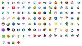 Logos modernes - 109 numéros Photo libre de droits