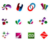 Logos modernes Images stock