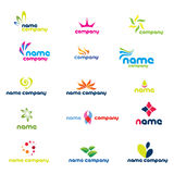 Logos modernes de compagnie illustration stock