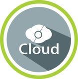 Logos numériques et calibre de nuage illustration stock