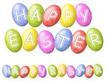 Logos o insegne felice delle uova di Pasqua Fotografia Stock Libera da Diritti