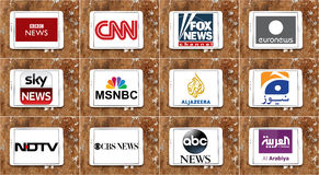 Free Logos Of Top Famous Tv News Channels And Networks Royalty Free Stock Photo - 65635625