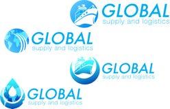 Logos per rifornimento e la logistica Fotografie Stock