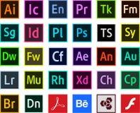 Logos Programs adobe color icons Vector