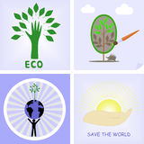The logos of the protection of nature Stock Photo