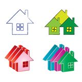 Logos real estate house. Real estate house logos and icons set collection, vector illustration isolated on white background Royalty Free Stock Image
