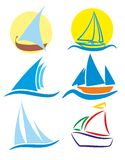 Logos of sailing vessels. Stock Images