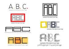 Logos. Stock Image