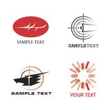 Logos. A set of logos of various subjects. Vector format Royalty Free Stock Images