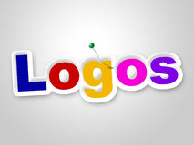 Logos Sign Represents Company身分和品牌 免版税图库摄影