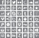 Logos sociaux d'apps de mise en réseau de media illustration de vecteur
