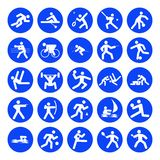 Logos of sports Royalty Free Stock Images
