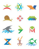 Logos_Symbols_icons_signs. Several concepts for logos. Vector illustration Royalty Free Stock Photo