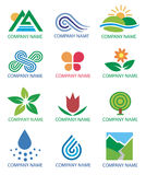 Logos_symbols_nature_landscape. Several concepts for company logos. Vector illustration Stock Photography