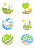 The logos on the theme ecology Royalty Free Stock Photography