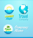 Logos for Travel and Vacation Royalty Free Stock Photography