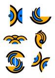 Logos unico di vettore fotografia stock libera da diritti