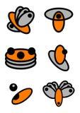 Logos unico di vettore fotografie stock libere da diritti
