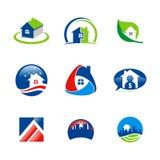 Logos verde domestico di ecologia Fotografia Stock