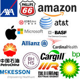 Logos of the world largest companies Stock Photography
