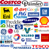 Logos of the world largest companies Stock Photos